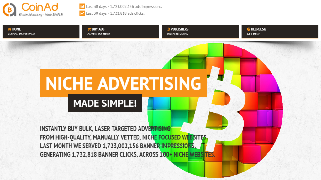 CoinAd Webseite