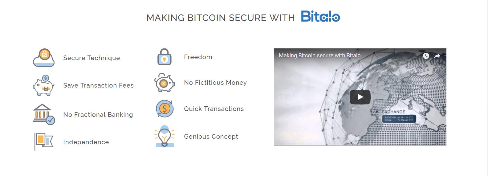 Bitalo Wallet Sicherheit