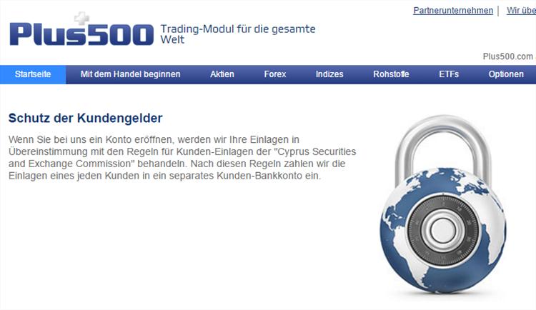 Der CFD Handel beim Marktführer Plus500 ist absolut seriös und sicher.
