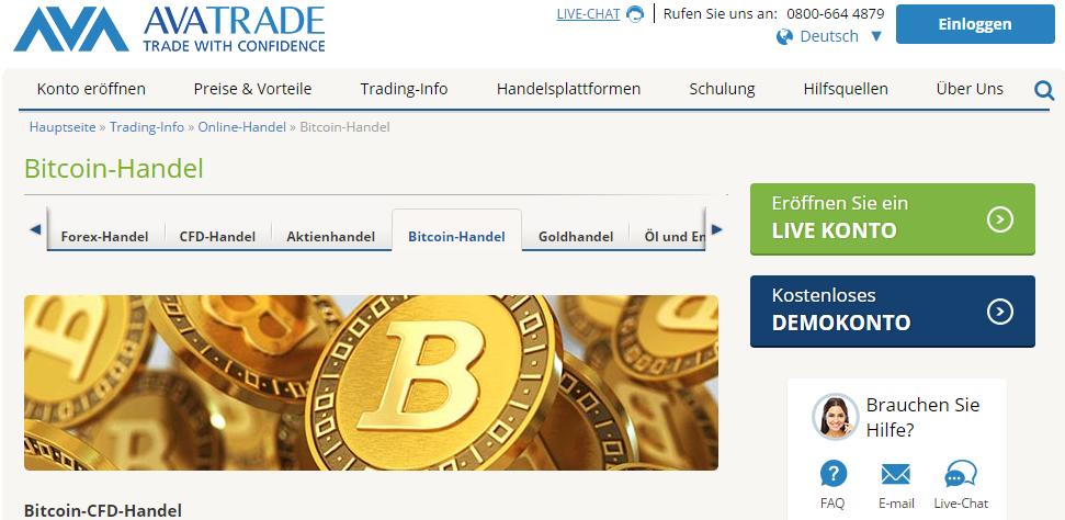 avatrade bitcoin handel