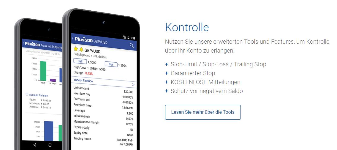 Mit Plus500 auch mobil von unterwegs aus Kryptowährungen traden.
