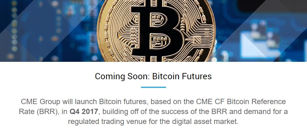 Die Ankündigung der Chicagoer Börse, einen Bitcoin Future im vierten Quartal diesen Jahres einzuführen.