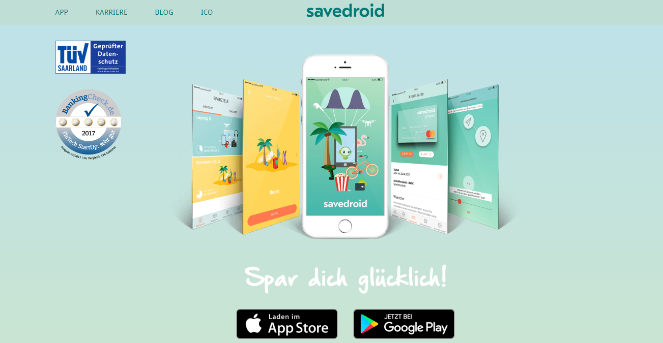 savedroid bitcoin sparbuch