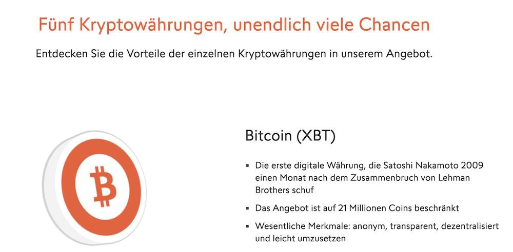 Swissquote Krypto Handel